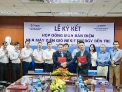 Ký hợp đồng mua bán điện Nhà máy điện gió Nexif Energy Bến Tre