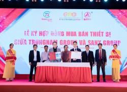 Sany Group bàn giao thiết bị phục vụ dự án năng lượng tái tạo của Trungnam Group