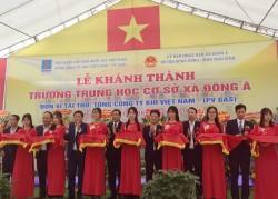 Khành thành trường học tại Thái Bình do PV GAS tài trợ kinh phí