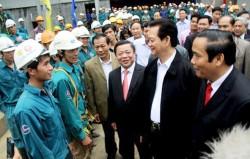 Thủ tướng Chính phủ thăm và làm việc tại nhiệt điện Vũng Áng 1