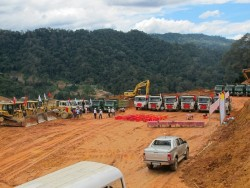 Chuẩn bị ngăn sông dự án Thủy điện Đồng Nai 5