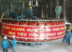 Thủy điện Hủa Na đã lắp đặt thành công rotor tổ máy số 2