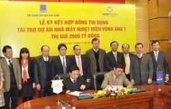 Ký hợp đồng tín dụng dự án nhiệt điện Vũng Áng 1