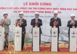 Khởi công hệ thống cấp điện dự án điện hạt nhân Ninh Thuận