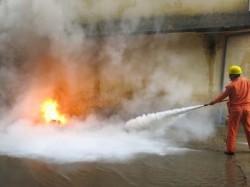PC Nghệ An diễn tập phòng cháy chữa cháy