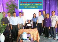 PC Nghệ An nhận phụng dưỡng Mẹ Việt Nam anh hùng