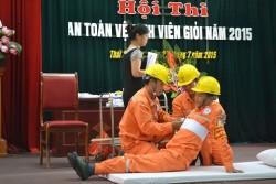 """PC Thái Nguyên tổ chức Hội thi """"An toàn vệ sinh viên giỏi"""""""