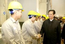 Thủ tướng chúc mừng công trình Thủy điện Lai Châu phát điện