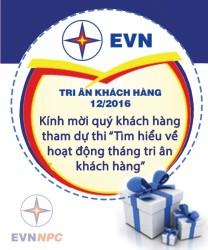 Trung tâm CSKH EVNNPC mời khách hàng dự thi trúng thưởng