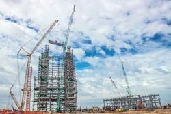 Hoàn thiện kết cấu thép tổ máy 1 Nhiệt điện Sông Hậu 1