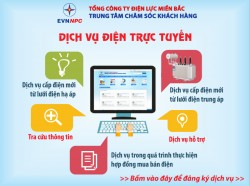 EVNNPC triển khai cung cấp dịch vụ điện trực tuyến