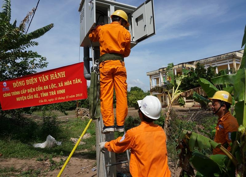 """""""Ốc đảo"""" cuối cùng của tỉnh Trà Vinh có điện lưới quốc gia"""