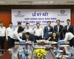 Ký hợp đồng mua bán điện Nhà máy điện mặt trời Cam Lâm VN