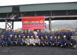 Than Dương Huy đạt mốc 2 triệu tấn than khai thác hầm lò năm 2019