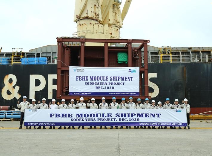 Doosan Vina exports clean and renewable energy equipment to the world demanding markets