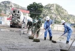 Hoàn thành công trình sân nền dùng bê tông kết hợp tro xỉ Nhiệt điện Vĩnh Tân 2