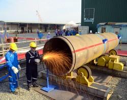 Khởi công dự án giàn H5 mỏ Tê Giác Trắng