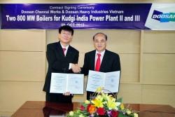 Doosan Vina cung ứng nồi hơi siêu tới hạn cho Ấn Độ