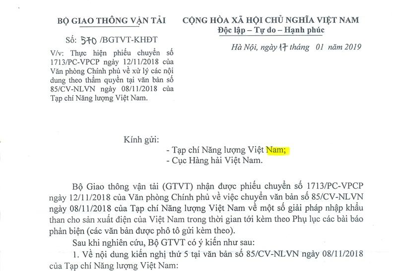Nhập khẩu than cho điện và phản biện của Tạp chí Năng lượng Việt Nam