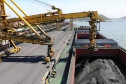 Bốc rót những tấn than đầu tiên của năm 2020