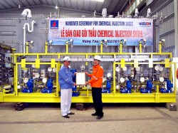 PVC-MS bàn giao dự án Chemical Injection Skid Thăng Long Đông Đô