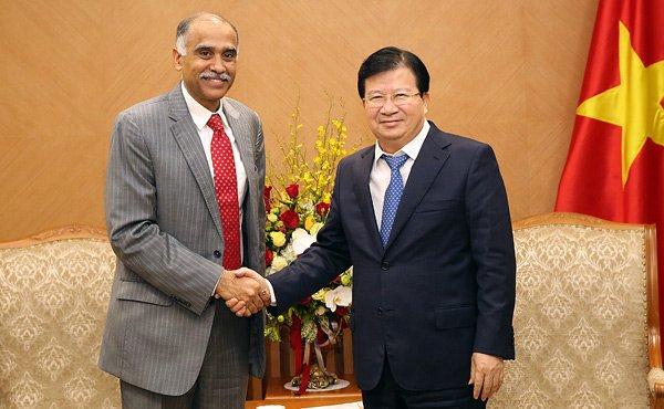 Đại sứ Ấn Độ, Phó thủ tướng Trịnh Đình Dũng, năng lượng tái tạo