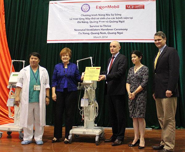 ExxonMobil donates pediatric ventilators to Vietnam's hospitals