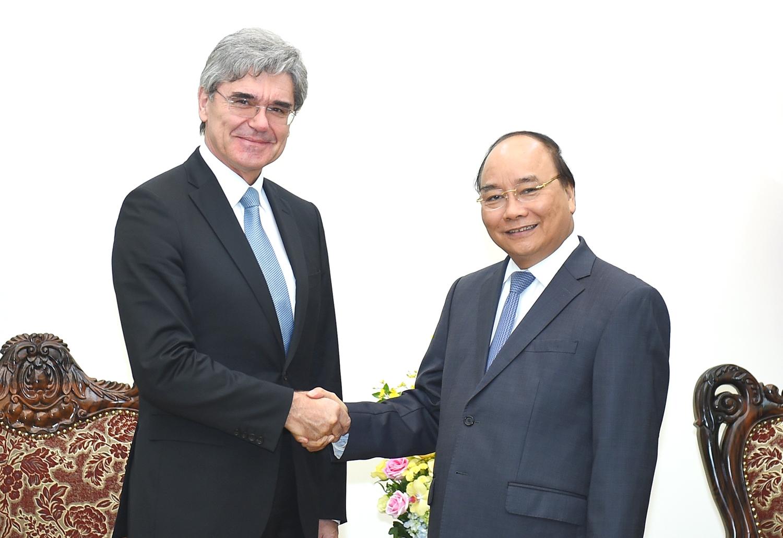 Thủ tướng tiếp Tổng giám đốc Tập đoàn Siemens 1