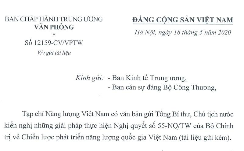 Đề nghị Ban KTTW, Bộ Công Thương nghiên cứu phản biện Tạp chí Năng lượng Việt Nam