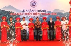 Khánh thành Nhà máy Thủy điện Thuận Hòa trên sông Miện