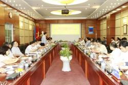 Tân Thứ trưởng Đặng Hoàng An làm việc với PVN