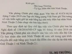 Chính phủ đề nghị xem xét kiến nghị Tạp chí NLVN về địa điểm ĐHN Ninh Thuận