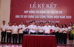 Ký hợp đồng tín dụng cho 11 dự án lưới điện ở Lai Châu