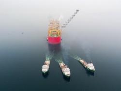 Giàn khai thác LNG lớn nhất thế giới bắt đầu hải trình đầu tiên