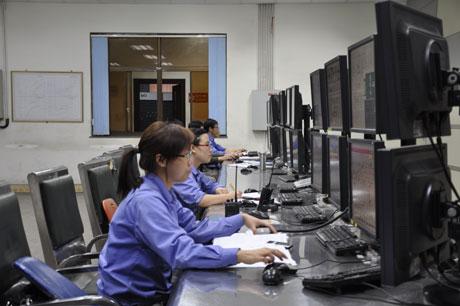 Phòng điều khiển trung tâm Công ty CP Nhiệt điện Cẩm Phả