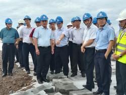 Chủ tịch EVN kiểm tra tiến độ Trung tâm Điện lực Duyên Hải