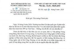 Báo cáo Thủ tướng về chính sách phát triển 'nguồn điện độc lập' ở Việt Nam