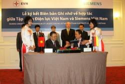 Siemens cam kết hỗ trợ EVN phát triển các dự án điện