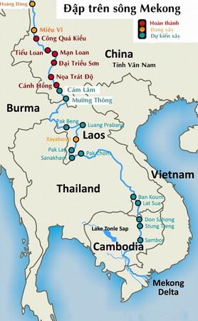 Các đập trên sông Mekong