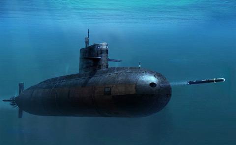 Tàu ngầm Kilo 636 phóng tên lửa chống hạm 3M54 Club-S từ ống phóng ngư lôi phía mũi tàu