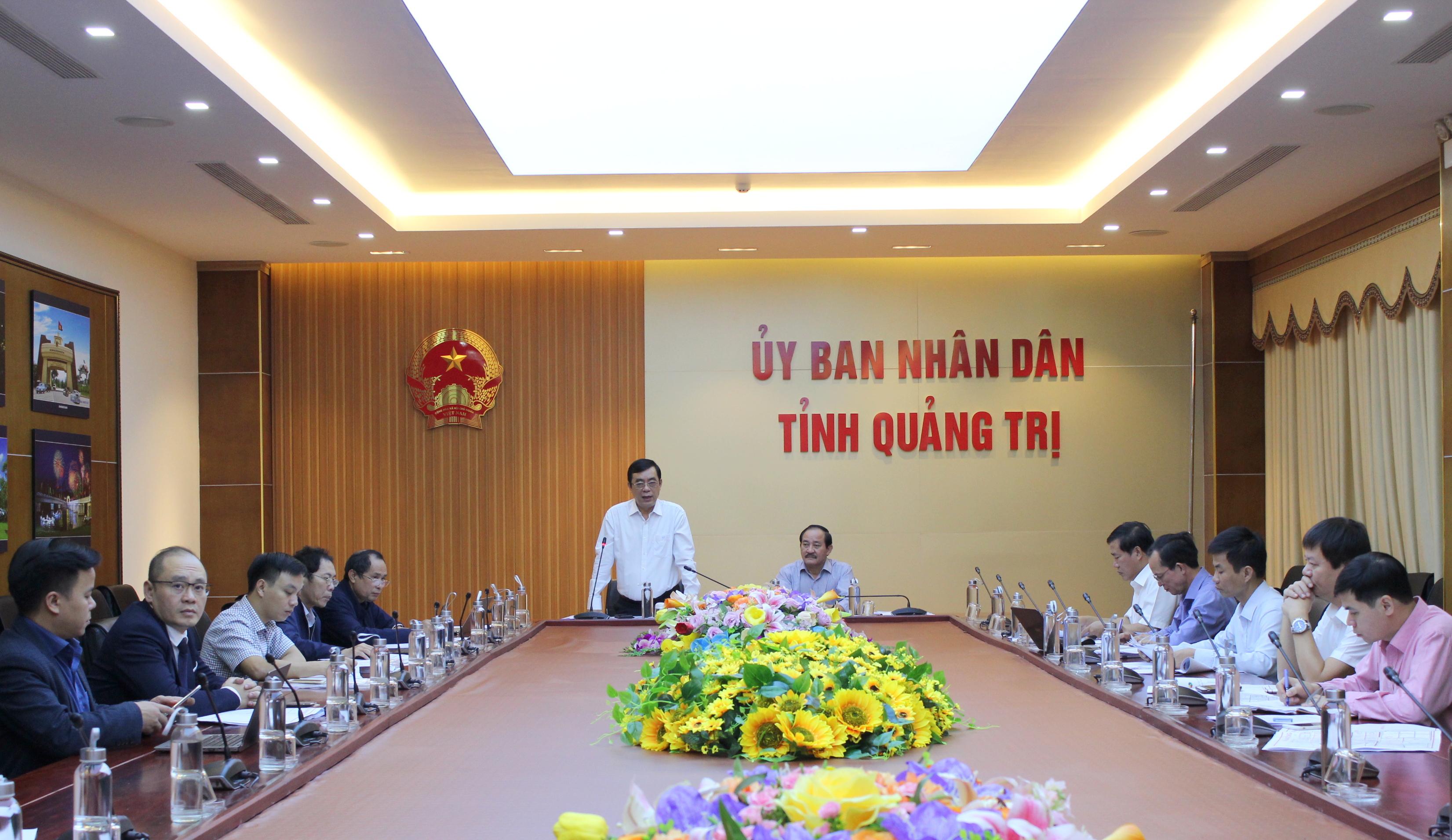 Ông Nguyễn Đức Chính, Chủ tịch UBND tỉnh đề nghị phía Liên danh Công ty Tài Tâm xác định lại quy mô và diện tích đất sát với thực tế Dự án.