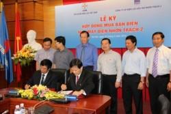 Ký kết Hợp đồng mua bán điện cho Nhà máy điện Nhơn Trạch 2
