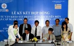Ký kết hợp đồng EPC dự án cáp ngầm xuyên biển Hà Tiên - Phú Quốc