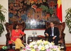 Phó Thủ tướng Nguyễn Thiện Nhân tiếp Trưởng đại diện UNDP tại Việt Nam