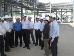 Lãnh đạo PVN thị sát tại Nhà máy Biothenol Dung Quất