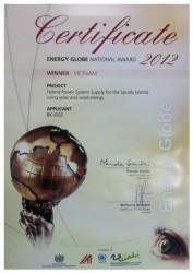 Dự án chiếu sáng đảo Trường Sa do PVN tài trợ đoạt giải năng lượng toàn cầu