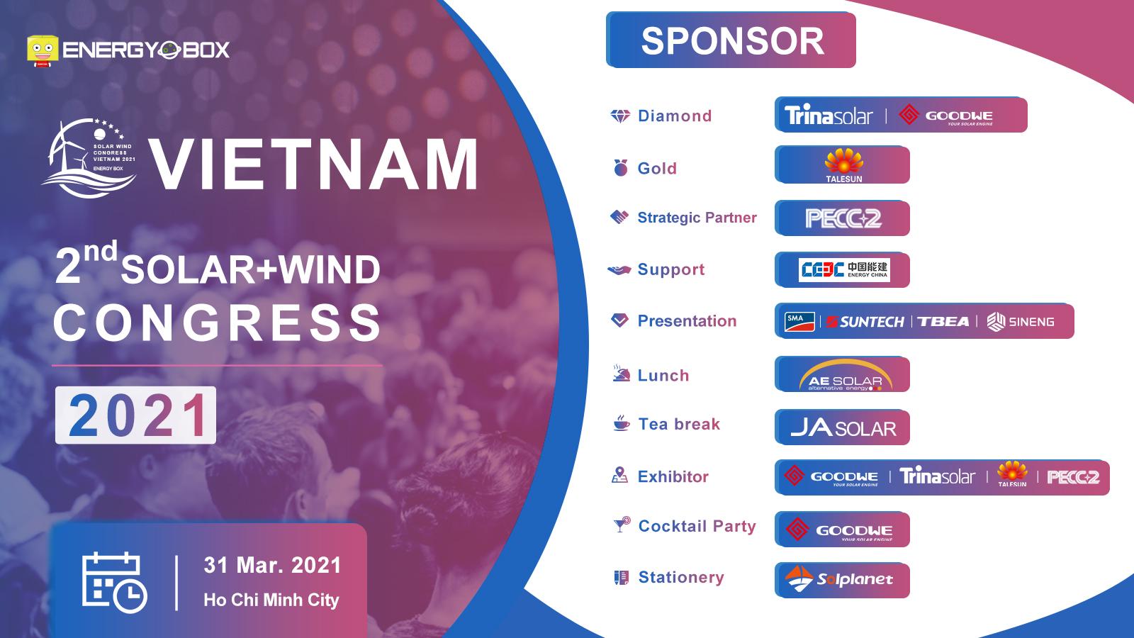 Sắp diễn ra 'Đại hội năng lượng mặt trời, gió lần thứ 2 tại Việt Nam'