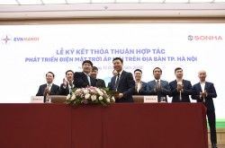 EVNHANOI and SONHA Group cooperate in developing rooftop solar power systems