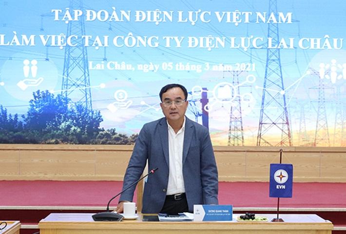 Chủ tịch HĐTV EVN làm việc với Công ty Điện lực Lai Châu