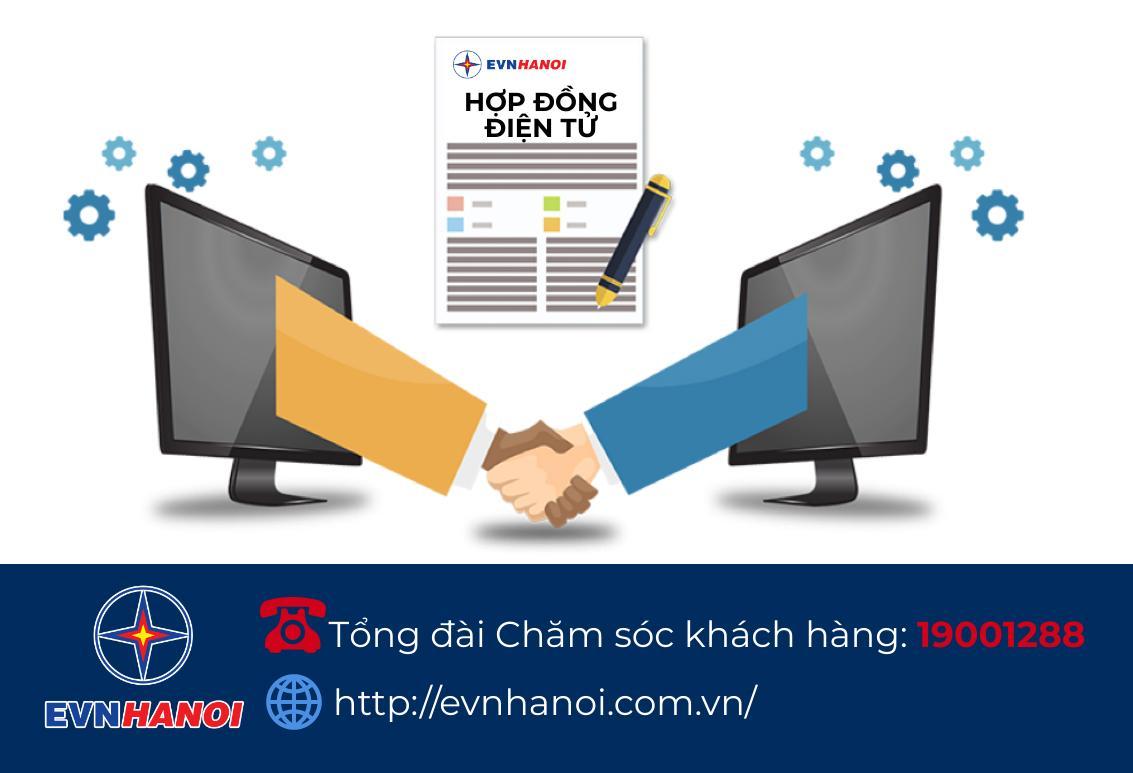 EVNHANOI ký lại hợp đồng mua bán điện sinh hoạt theo phương thức điện tử